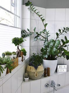 Licht für den Urban Jungle im Bad – kleines Badezimmer Makeover mit Plissee {enthält Werbung}