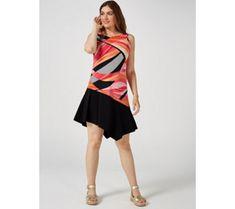 Ronni Nicole Sleeveless Dress with Contrast Hem - 179327 Qvc Uk, Ronni Nicole, Just Shop, Black Stilettos, Stunning Dresses, Special Events, Hemline, Contrast, Bracelet