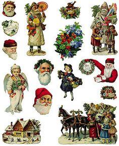 Pour découpage, collage Noël