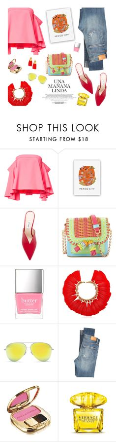 """""""Spring colors"""" by magdafunk ❤ liked on Polyvore featuring Milly, Rifle Paper Co, Attico, Sophia Webster, VANINA, Victoria Beckham, Citizens of Humanity, Dolce&Gabbana, Versace and Lizzie Fortunato"""