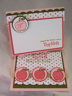Teacher Appreciation Cards | ... this gift, I think a nice Teacher Appreciation card is in order