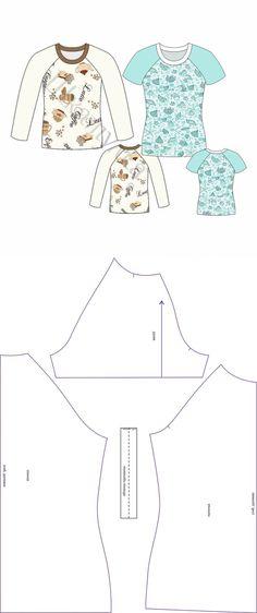 Выкройки свитшота и футболки реглан... ♥ Deniz ♥