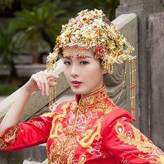 Luxuriois Gorgeous Costume Ancient Chinese Princess Empress Hair Cap Wedding Hair Accessory Bride Hair Tiaras Coronet