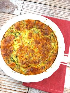 Checkout this Broccoli and Cheddar Quiche Recipe at LaaLoosh.com! Getting rid of the crust makes this dish lighter and healthier, but there is still tremendous flavors in the egg.