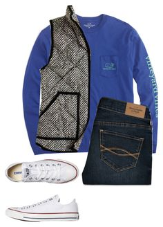 """""""I got this vest in grey ordered it yesterday!"""" by sc-prep-girl ❤ liked on Polyvore featuring Vineyard Vines, Abercrombie & Fitch and Converse"""