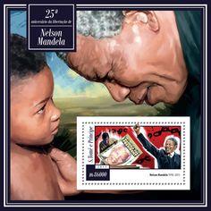 São Tomé and Príncipe ST 15118 b25th anniversary of the liberation of Nelson Mandela (1918–2013)