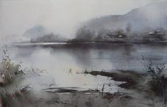 Ilya Ibryaev - LAKE - watercolor (53х37) cm