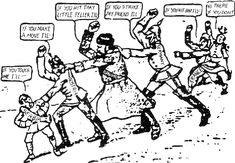 """Chain of Friendship cartoon - """"The Chain of Friendship"""", an American cartoon from 1914 depicting the web of alliances, captioned, """"If Austria attacks Serbia, Russia will fall upon Austria, Germany upon Russia, and France and England upon Germany."""""""