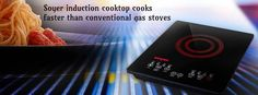 #Soyer #induction cooktop #cooks faster than #conventional gas stoves.