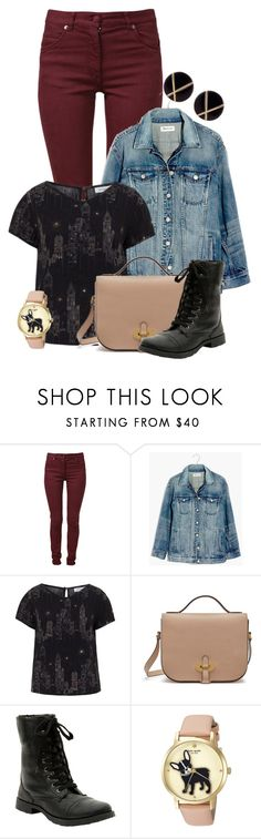 """""""nyc"""" by charlizard ❤ liked on Polyvore featuring Maison Margiela, Madewell, Mulberry, Hot Topic, Kate Spade and Botkier"""