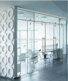 フレームレスガラススライドドア、...