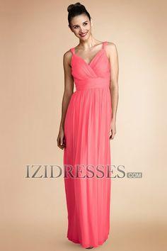 Sheath/Column Straps Chiffon Bridesmaids Dress - IZIDRESSES.COM