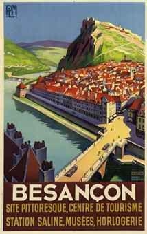 Vintage Travel Poster by Roger Broders. Besancon,France 1930
