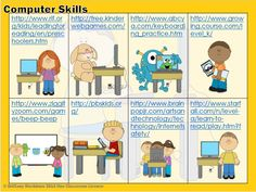 "Computer Skills ""Digital"" Task Cards for Beginners (kindergarten). FREE!"