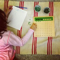Montessori Maths Activities {Multiplication,skip counting and DIY Sequin Board}