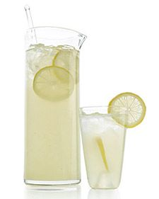 This perennial favorite requires just 3 ingredients: lemon juice, sugar, and water. This means it won't take much time away from a leisurely summer afternoon to mix a batch. To make 2 quarts, pour 3 cups of fresh lemon juice (from about 20 lemons) through a fine sieve into a pitcher. Add 2 cups of superfine sugar, and stir until it has dissolved. Stir in 4 cups of water and some ice, and then garnish with lemon slices