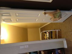 This is our second pantry and is under the back stair. Had several options from a wine closet to a swim change room. We decided to shelve it like the primary pantry with slightly larger shelves for towels and hooks for backpacks.
