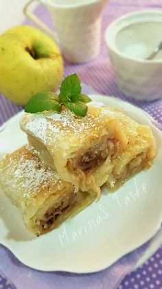 Strudel, Posne Torte, Bread Dough Recipe, Croatian Recipes, Cake Recipes, Sweet Treats, Food And Drink, Sweets, Baking