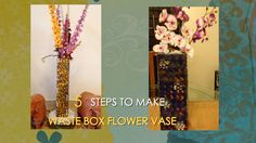 How to make waste box FLOWER VASE | BEST FROM WASTE