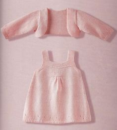 Best 11 Ravelry: Project Gallery for Combinaison Layette pattern by Phildar Design Team – SkillOfKing. Girls Knitted Dress, Knit Baby Dress, Knitted Baby Clothes, Baby Cardigan, Baby Knits, Crochet Cardigan, Baby Vest, Cardigan Pattern, Knitting For Kids
