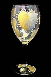 Bride's Heirloom Design Hand Painted Grande Wine Glass by Bellissimo. $34.95. Every product is thoroughly inspected to meet our strict quality control criteria, and then fired twice to insure durability.. For generations of pleasure and enjoyment, hand washing is recommended for all Bellissimo! merchandise.. Bellissimo! is the manufacturer of America's Premier Hand Painted Glassware.. All Bellissimo! merchandise is exquisitely hand painted using an exclusively formulated non-t...