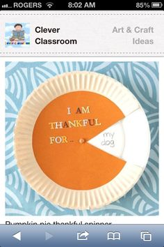 Paper plate thanksgiving craft idea. Simple and inexpensive.