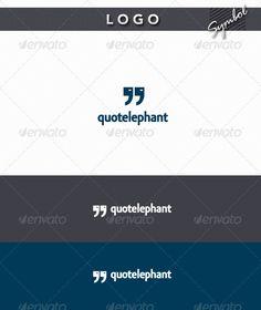 QuoteLephant - Logo Design Template Vector #logotype Download it here: http://graphicriver.net/item/quotelephant-logo/1800749?s_rank=1652?ref=nesto