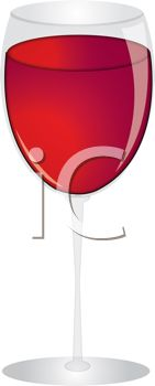 iCLIPART - Royalty Free Clipart Image of a Glass of Wine