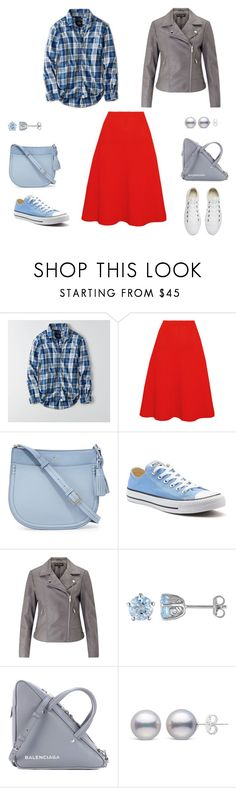 """""""Romantic/Country/Sport/Punk"""" by eshumakher on Polyvore featuring American Eagle Outfitters, Victoria Beckham, Kate Spade, Converse, Miss Selfridge, Laura Ashley, Balenciaga and country"""