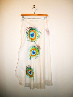 Hand Painted Clothing Bohemian Peacock Feather by lydiabeechart, $68.00