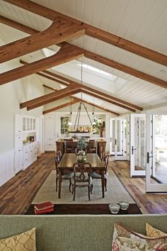 Open concept! for Spacial reference.  Not quite this long but close (orient table diff).  Perhaps half wall on left with skylights above in hall?