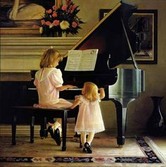 """""""Dress Rehearsal"""" by Greg Olsen. Reminds me of my girls when they were little"""