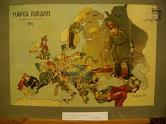 Humoristic Map of the WWI.