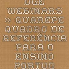 DGE - Webinars » QUAREPE - Quadro de Referência para o Ensino Português no Estrangeiro