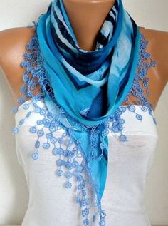 Scarf Fall Winter Accessories Cotton Scarf Necklace Cowl by anils ☂. ☂ ☺. ✿