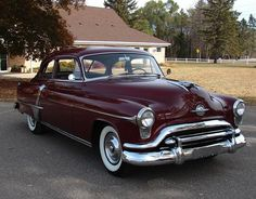 1951 Oldsmobile Super-88 Two-Door Holiday Hardtop (also 4-Door Sedan, 2-Door Coupe, 4-Door Station Wagon) 303ci (5.0L) V8 engine with 4-speed Hydramatic, or 3-speed Manual Transmission
