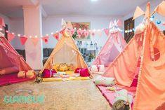 Slumber Tents from a Pajama Sleepover Themed Birthday Party via Kara's Party Ideas | http://KarasPartyIdeas.com (35)