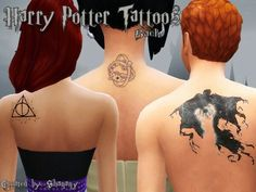 Harry Potter Tattoos - The Sims 4 Catalog Harry Tattoos, Harry Potter Tattoos, Los Sims 4 Mods, Sims 4 Tattoos, Sims 4 Cc Skin, Sims 4 Mm, Harry Potter Outfits, Sims Community, Sims 4 Clothing