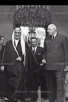 King Faisal of Saudi Arabia and Charles de Gaulle of France