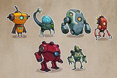 ROBOT concepts by DerekLaufman.deviantart.com on @deviantART