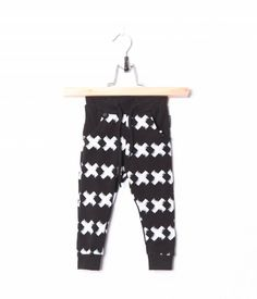 Brand: Lucky No. 7Origin: The NetherlandsColor: Black with whiteDescription: The Kriss Kross Pants have crosses printed all over. The crosses have a painted effect. The Pants have pocke...