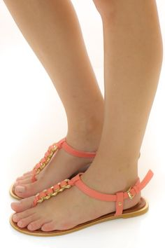 Sweet Somethings Sandals-Coral - What's New