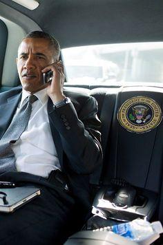 President Obama on the job.