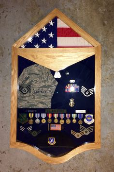 Custom Staff Sergeant Military  retirement shadow box.  $300, if interested, contact Tom at Jenkswood@gmail.com