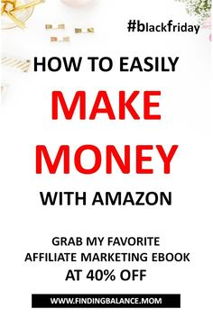 Black friday sale on Amazon Affiliate Marketing Ebook. check it out #blackfriday #affiliatemarketing #makemoney Online Work From Home, Work From Home Jobs, Way To Make Money, Make Money Online, Money Fast, Black Friday Deals Online, Amazon Affiliate Marketing, Finance Blog, Online Earning