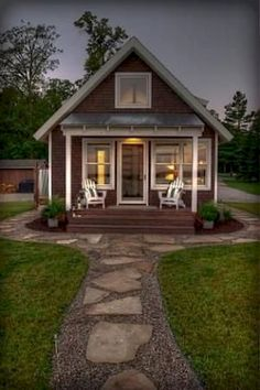 60 Beautiful Tiny House Plans Small Cottages Design Ideas - Home design ideas Small Cottage Designs, Small Cottage House Plans, Small Cottage Homes, Small Cottages, Cottage Style Homes, Cabins And Cottages, Small House Design, Small House Plans, Tiny Homes