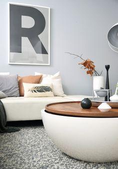 Douce harmonie blanc- gris - camel #interior #livingroom #colours