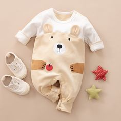 * Bottom snap * Soft and comfy * Material: Cotton * Machine wash, tumble dry * Imported Newborn Boy Clothes, Baby Outfits Newborn, Baby Boy Outfits, Kids Outfits, Baby Girl Birthday Dress, Baby Boy Dress, Baby Girl Dresses, Kids Dress Wear, Winter Baby Clothes