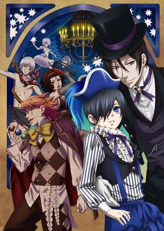 Key art for summer's Black Butler: Book of Circus (2014) #kuroshitsuji