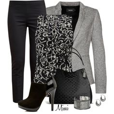 """""""Onyx & Ash Gray"""" by myfavoritethings-mimi on Polyvore"""